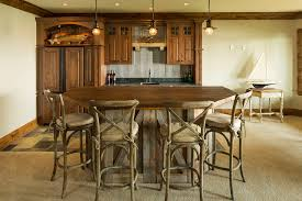 Rustic Bar Lighting Ideas Home Traditional With Tile Floor Pendant Lights Corrugated Galvanized Iron