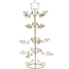27 Golden Star Christmas Tree 16 Ornaments Stand Holder