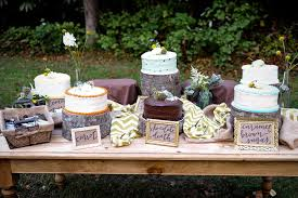 Mixed Wedding Cake Dessert Table