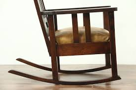 Arts & Crafts Mission Oak Antique Rocker, Leather Seat Craftsman Rocking  Chair Arts Crafts Mission Oak Antique Rocker Leather Seat Early 1900s Press Back Rocking Chair With New Pin By Robert Sullivan On Ideas For The House Hans Cushion Wooden Armchair Porch Living Room Home Amazoncom Arms Indoor Large Victorian Rocking Chair In Pr2 Preston 9000 Recling Library How To Replace A An Carver Elbow Hall Ding Wood Cut Out Stock Photos Rustic Hickory Hoop Fabric Details About Armed Pressed Back