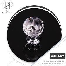 le pas cher prix à facettes acrylique cristal poignée de porte et
