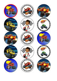 Blaze And The Monster Machines Edible Cake & Cupcake Toppers ... Personalised Monster Truck Edible Icing Birthday Party Cake Topper Buy 24 Truck Tractor Cupcake Toppers Red Fox Tail Tm Online At Low Monster Trucks Cookie Cnection Grave Digger Free Printable Sugpartiesla Blaze Cake Dzee Designs Jam Crissas Corner Cake Topper Birthday Edible Printed 4x4 Set Of By Lilbugspartyplace 12 Personalized Grace Giggles And Glue Image This Started