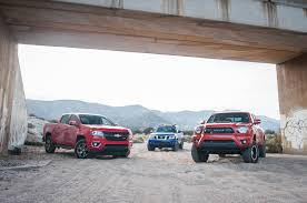 Comparison: Chevrolet Colorado Vs. Nissan Frontier Vs. Toyota Tacoma ... Comparison Test 2016 Chevrolet Colorado Vs Gmc Canyon Diesel Truck Tool Compare 2017 Ford F150 Toyota Truck Comparison Blog Post List Mike Bass Midsize Best Pickup Trucks Toprated For 2018 Edmunds Ram 1500 Silverado Big Three Chevy New Small Used Trucks Check More At Http Hilux Versus Ranger Review Salary Full Size Huge Monster In To A Young Lady Stock Image