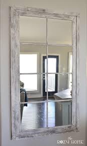 Rustic Industrial Bathroom Mirror by Best 25 Window Mirror Ideas On Pinterest Cottage Framed Mirrors