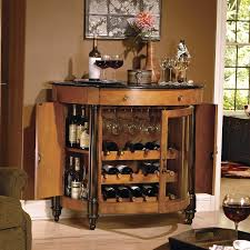 Bar Cabinet Decorating Style es with Half Round Shape and Dark