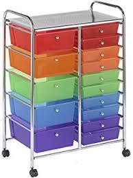 Amazon Seville Classics 10 Drawer Organizer Cart Translucent