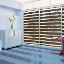 blackout roller zebra blinds light filtering sheer shade in dark