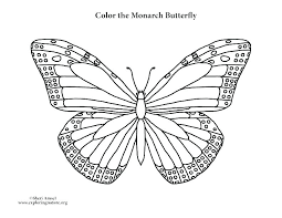 Color Page Butterfly Free Coloring Pages Simple Book