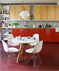 French Designer Seating And Lighting Set The Tone For Two 60s Inspired Kitchens