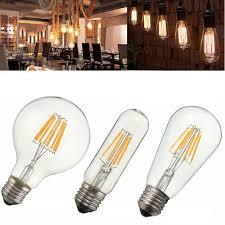 cob led light bulb e27 2w 4w 6w 8w t10 g80 st58 vintage edison