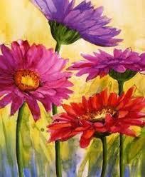 Easy Acrylic Flower Paintings On Canvas