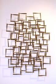 High Quality Mid Century Modern Metal Wall Art Bounce Air Lending Floating Swirls Shades Decoration Interior