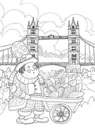 Invite To English Tea Time Coloring Beautiful London City Style Book For Adult