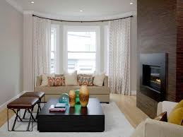 Modern Living Room Curtains Bay Windows Ideas Covering Window Dressing For Rooms