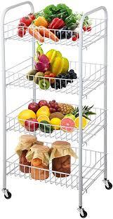 homgrace 4 etagen küchenwagen servierwagen rollwagen allzweckwagen nischenwagen beistellwagen etagen rollwagen mit rollen für küche badezimmer