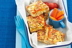 Cheesy Zucchini And Pasta Slice