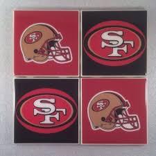 san francisco 49ers nfl ceramic tile coasters set of 4