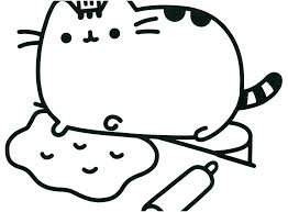 Pusheen Cat Coloring Pages Printable Book Emoji Photographs The I Am Colori