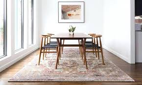 Dining Table On Carpet Floor Best Rug For Area Kitchen Circle Rugs