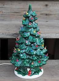 Vintage Atlantic Mold Ceramic Christmas Tree by Vintage Atlantic Mold Ceramic Astro Rocket Lights Ceramic