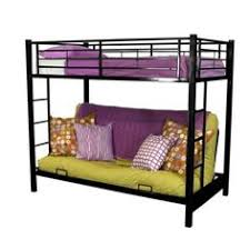 walker edison black metal twin futon bunk bed size full twin
