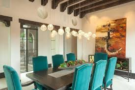 Sloped Ceiling Chandelier Vaulted Decor Dining Room Beach
