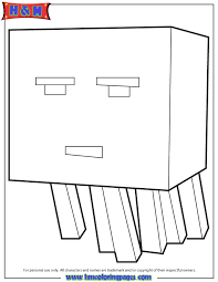 Cartoon Ghast From Mine Craft Coloring Page