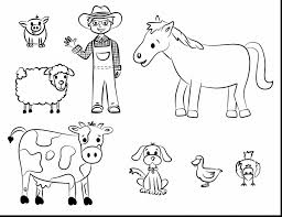 Great Printable Coloring Pages Farm Animals With Animal Color And For Adults