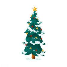 Hand Drawn Decorated Christmas Tree Illustrat Free Stock Vector