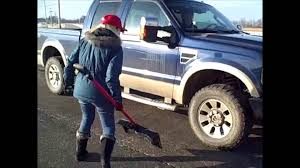 Tough On Tools - Snow Shovel Vs Pickup Truck - Bully Tools - YouTube