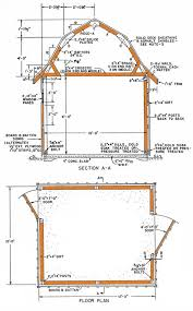 10 X 16 Shed Plans Free by 10 12 Gambrel Storage Shed Plans U2013 How To Build A Classic Gambrel Shed