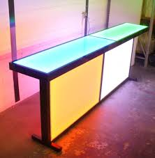 Long Metal Framed Table With Glowing Acrylic Panels Pls Show Vanity Tops That Are Not Granitequartzor Solid Surface Bar Shelving For Home Commercial Bars Led Lighted Liquor Shelves Double Sided Island Style Back Display Pictures Idea Gallery Long Metal Framed Table With Glowing Acrylic Panels 2016 Portable Outdoor Plastic Counter Top For Beer Bar Amazing Cool Ideas 15 Rustic Kitchen Design Photos Sake Countertop Google Pinterest Jakarta Fniture More Vintage Pabst Blue Ribbon 1940s Pbr Point Of Sale Onyx Light Illuminated In The Dark Effects