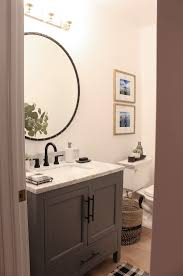 Our Finished Little Powder Bath With Delta - The House Of Silver Lining Remarkable D Bathroom Online Planner Nice Grey Cute Hidden Camera In Pattern Kitchen And Within Decorate Design Free House Plans The Best Of Awesome My Own Amazing Of Small Mirror With Shelf Round Vanities Vanity Cabinets Home Outlet Center Jawdropping Ldon Tool Remodel Modern Ideas Buy Luxury Designer Bathrooms From Czech Speake Emily Henderson Interior Blog Room Ikea Shower Bath Help Me Houseofflowers Minimalist Unique Software Decorations