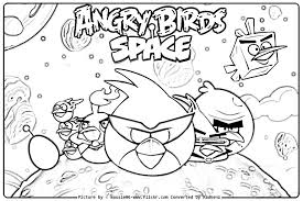 Angry Bird Space Coloring Pages