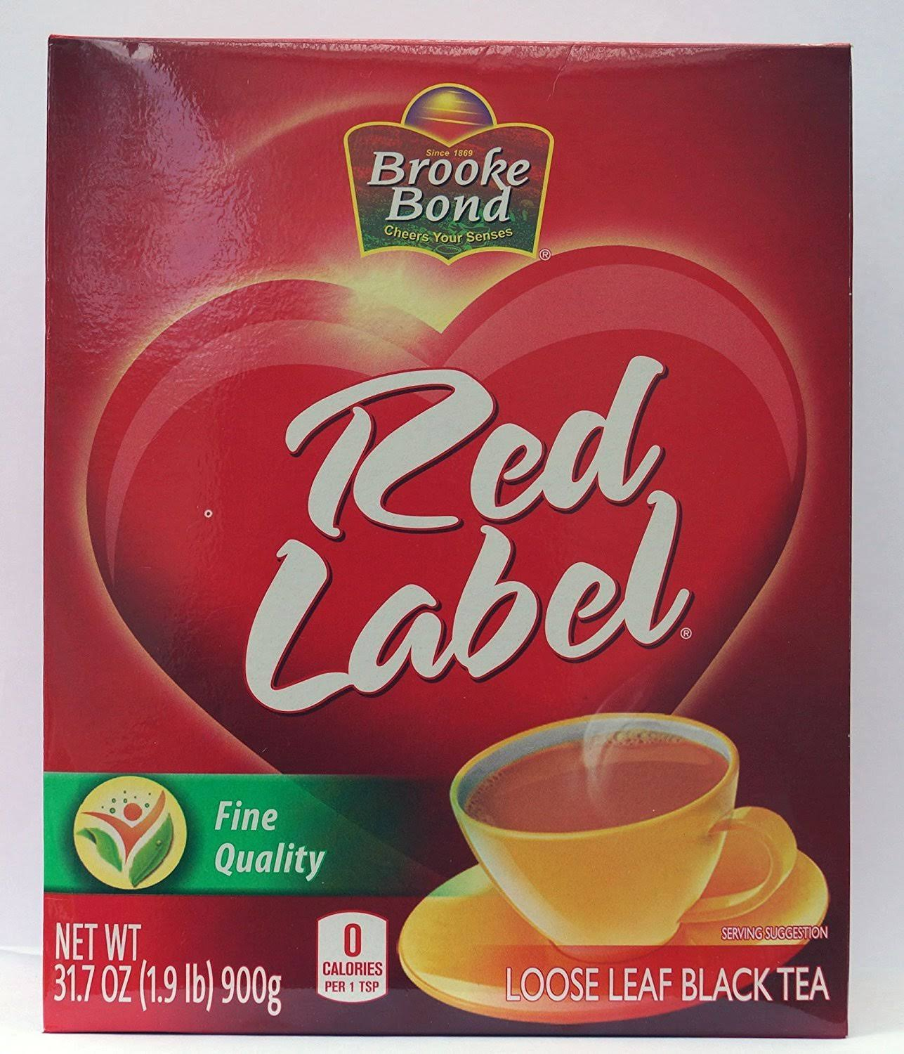 Brooke Bond Red Label Tea, Loose Leaf, Black - 31.7 oz