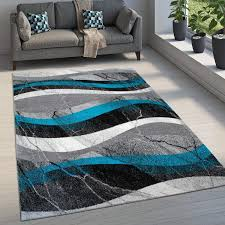 paco home teppich wohnzimmer kurzflor used look marmor beton