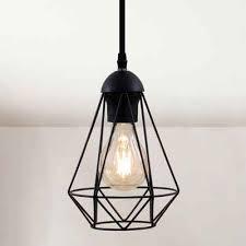 b k licht led pendelleuchte led hängele schwarz metall draht vintage industrieleuchte decke retro e27