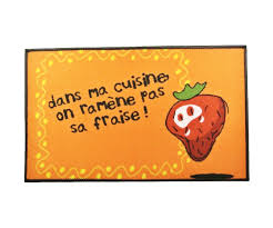 tapis d evier de cuisine tapis de cuisine evier molletonné slogan ramène pas ta fraise