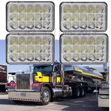 For Kenworth Peterbilt 378 357 379 4''x6'' LED Truck Headlight Hi-Lo ...