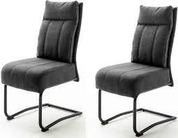 mca furniture freischwinger azul 2er set mit taschenfederkern stuhl bis 120 kg belastbar