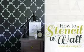 How To Stencil A Wall Best Design Stencils For Walls