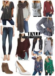 Fall Fashion Must Haves For 2017