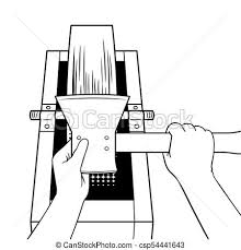 Sharpening Ax On Grindstone Coloring Book Vector