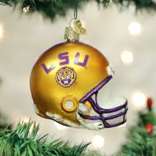 Collegiate Christmas Ornaments Tagged LSU Old World
