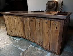 Rustic And Metal Executive Desk