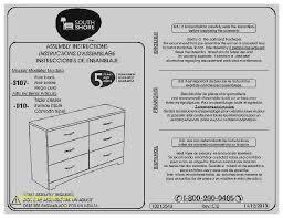 dresser inspirational south shore soho 6 drawer dresser south