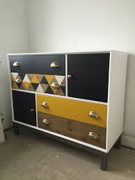 Ikea Nyvoll Dresser Light Grey by Ikea Nornas Chest Of Drawers Hack Yellow Grey Geometric