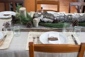 Neutral Natural Christmas Tablescape On Simplebites Rustic Decor