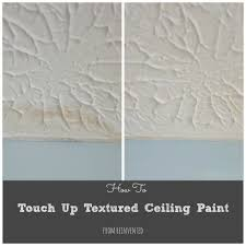 Homax Ceiling Texture Scraper by How To Touch Up Textured Ceiling Paint Water Stains Ceilings