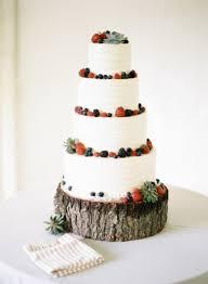 Rustic Fruit Wedding Cake